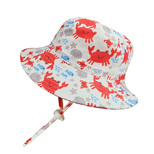 Sun Cowboy Protection (Mengar UPF 50+ Kids Sun Hat Fisherman Hat, Reversible Cotton Bucket Hats UV Sun Protective (21.25