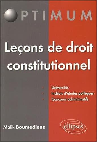 Lire en ligne Leçons de Droit Constitutionnel epub, pdf