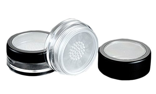 (6PCS 10ML Empty Foundation Make-up Loose Powder Puff Box Case Container Holder Cosmetic Jars Pot with Sifter)