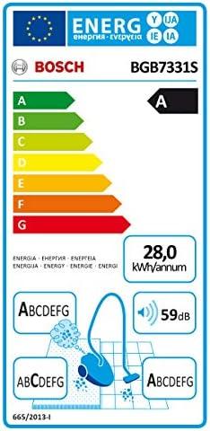 Bosch GL70 Ergomaxx\'x Aspirateur avec Sac 650 W Rouge