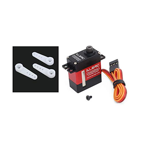 AdaAda ALZRC RCS DS452MG CCPM 4 8V 7 4V 4 8KG Digital Servo for RC Helicopter Drone Black&red