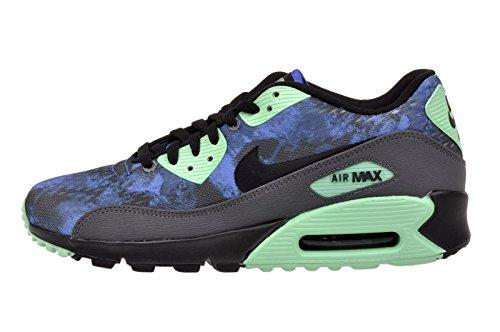 Nike Men's Air Max 90 Comfort PRM, HYPER COLBALT/BLACK-DARK GREY-GREEN GLOW, 6.5 M US