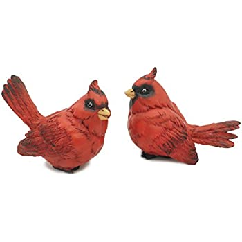 Beautiful FICITI G105394 Cardinal Figurine Birds Decoration   Set Of 2 4 Inches High