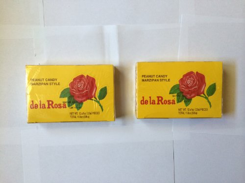 Dulces De La Rosa (De La Rosa Mazapan, Marzipan Peanut Candy, 2 Small Boxes, 24 Pieces Total, 2 Cajas, 24 Dulces Total)