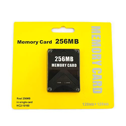 256MB Memory Card for Playstation 2, High Speed Memory Card for Sony PS2 (1 Pack) (256 Mb Data Card)