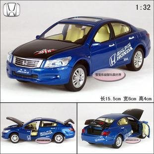 New Honda Accord 132 Alloy Diecast Model Car Toy With Sound Light Blue