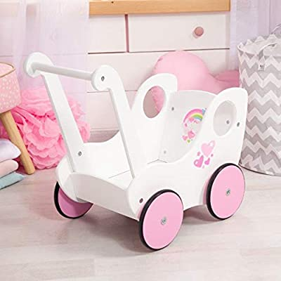 52102AB Bayer Design - Cochecito de Madera para muñecas, Andador de muñeca