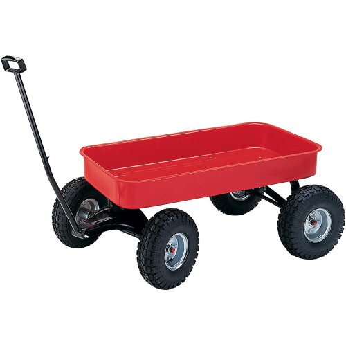 Grizzly G7111 Heavy-Duty Red Wagon