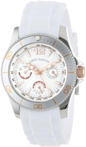 Tommy Bahama Swiss Women's TB2145 Riviera Swarovski Crystal Bezel White Dial Multi-Function and Strap Watch