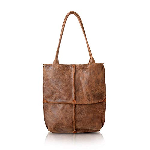 Extra Large Durable Leather Brown Tote Shoulder Bag For Women, Handmade Women Leather Everyday Handbag