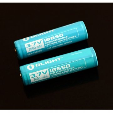 Pakhuis Genuine Olight 2600mAh 18650 Rechargeable Battery With Protected