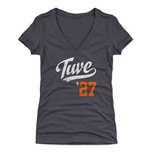 500 LEVEL Jose Altuve Women's V-Neck Shirt XX-Large Tri Navy - Houston Baseball Women's Apparel - Jose Altuve Tuve Players Weekend O ()