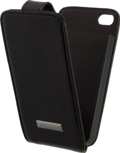Commander 11448 Premium DeLuxe Leder Case für Apple iPhone 4/4S schwarz