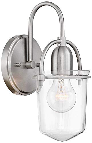 (Hinkley 3030BN Restoration One Light Wall Sconce from Clancy collection in Pwt, Nckl, B/S, Slvr.finish,)