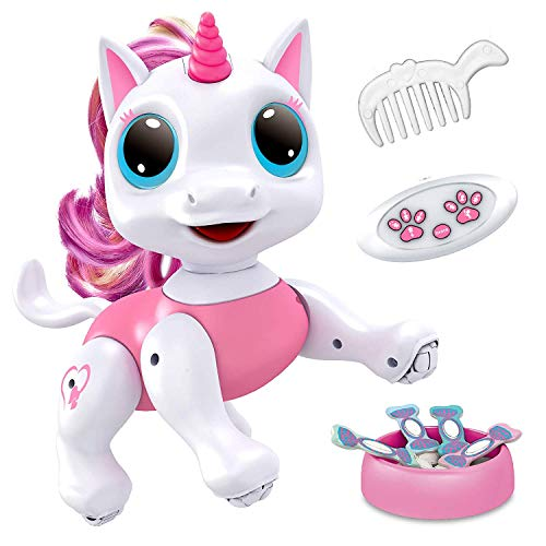 Power Your Fun Robo Pets Unicorn Toy Robot Pet - Remote Control Robot Toy, Smart RC Robot Unicorn Gifts for Girls