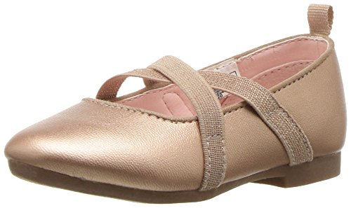 OshKosh B'Gosh Girls' Flora Ballet Flat, Rose, 5 M US Toddler - Image 1