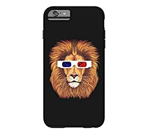 3D Lion iPhone 6 Plus Black Tough Phone Case 2955500M66751607