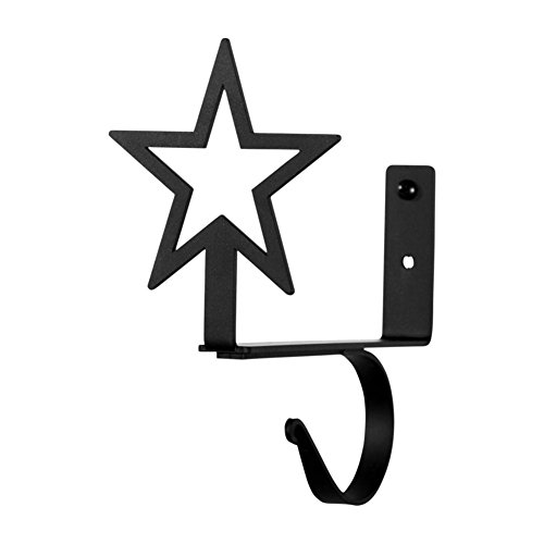 Iron Star Shelf Brackets -Set of 2-Heavy Duty Metal Curta...