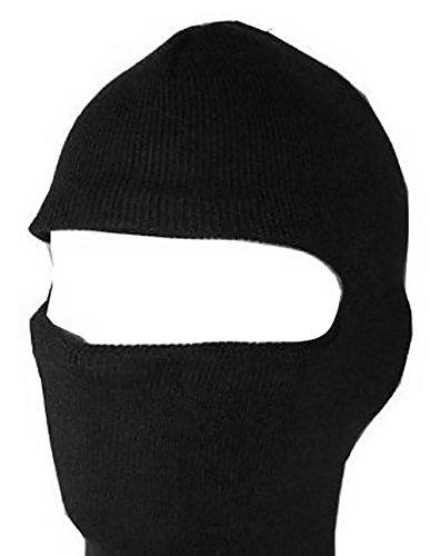 New One Hole Face Ski Mask - Black ()