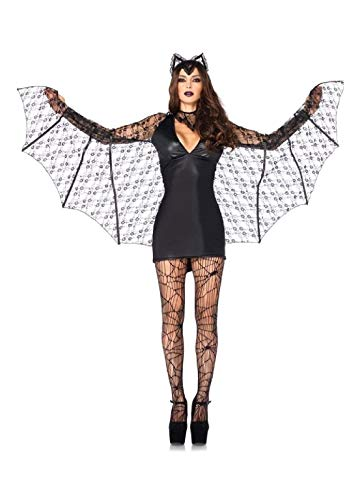 Moonlight Winged Bat Adult Womens Costume Black Gothic -