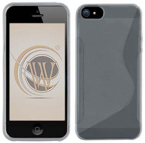 TPU Streamline Protector Phone Cover Case Transparent Smoke for Apple iPhone - Faceplate Transparent Design Smoke