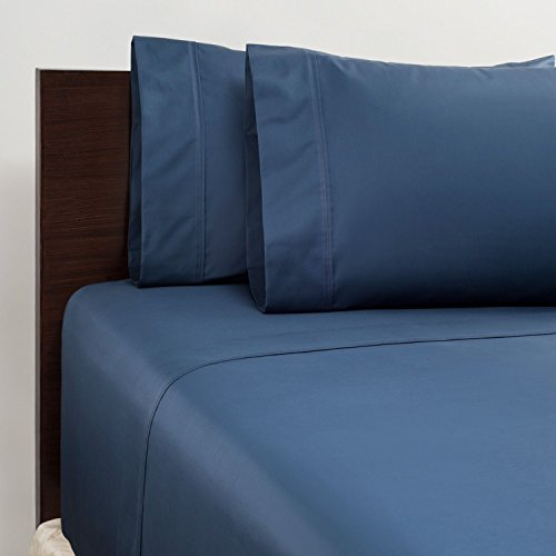 Member's Mark 450 Thread Count Queen Sheet Set - Navy - Set Thread 450