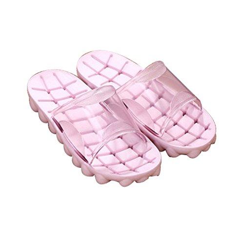 Tellw Estate Autunno Moda Pantofole Da Bagno Casa Pavimento In Legno Antiscivolo Balneazione Paio Ciabatte Donna Rosa