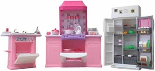 Gloria Dollhouse Furniture - Deluxe Kitchen Play Set
