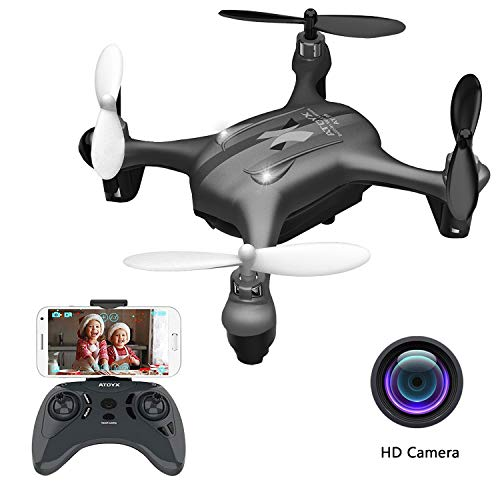 Video Feed - 2019 Latest Mini Drones with Camera for Adults/Beginners WiFi Real-time Video Feed, 2.4GHz 4CH 6-Axis Gyro Quadcopter, RC Helicopter Easy Fly is a Fun Gift for him(AT-96)