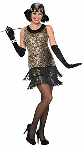 Forum Novelties Women's Roaring 20's Flapper Costume, Multi Color, Medium/Large -