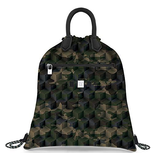 Save My Bag Sac à dos pour femme Cloud Lycra Imprimé Camo Vert 440x375 Mm