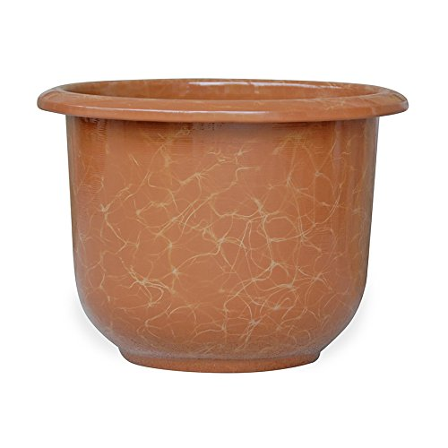 Novelty Round Moonstone Planter, Caramel, 12-Inch (Medium Finish Caramel)