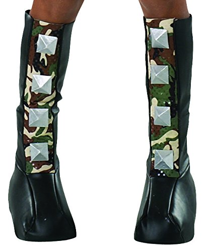 Rubie's Costume Drama Queens Spiked Camouflage Boot (Halloween Accessories Boots)