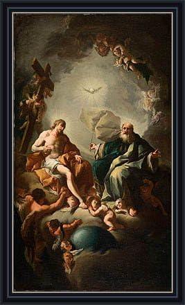 Amazon.com: TOPofART Troger (Holy Trinity, c.1726/28) Canvas Art ...