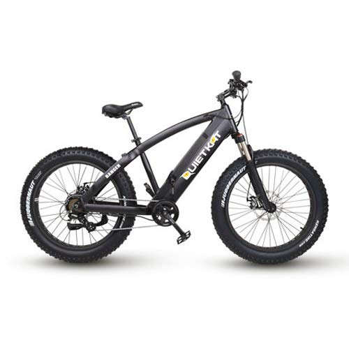QuietKat Ranger Electric Bike for Backcountry, Hunting and Fishing - Bafang 750W Hub Drive Motor Chargable Max Speed 19 MPH, Mechanical Disc Brake 7-Speed Gear 48V/11.6AH - Black