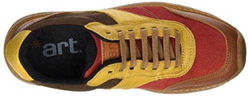 Marrón Cuero de Unisex 1041 Zapatos Memphis Cordones ART Link Adulto Derby Multi gPxzC6Pwq