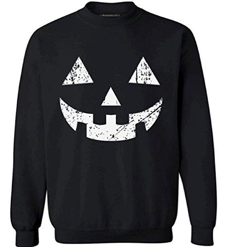 [Awkward Styles Unisex Jack O' Halloween Pumpkin Sweatshirts Crewneck Halloween Easy Costume Idea Black 2XL] (Easy A Costume Ideas)