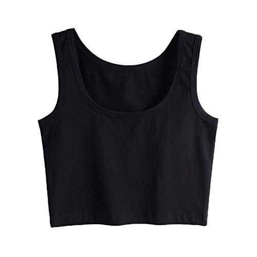 SUNDAYROSE Manche sans sans Pull Manche Femme Uni Noir nnr17xz