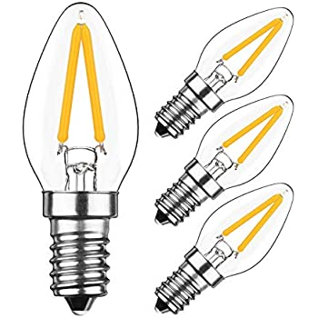 2W LED Candelabra Light Bulbs 15 Watt Equivale... Sagel E12 C7 LED Candle Bulbs