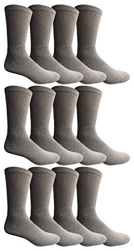 "Kids Gray Crew Sock Size 4-6  12 Pair  /""Free Shipping/"""