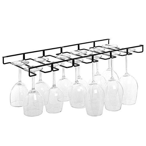 metal and glass wine rack - 4
