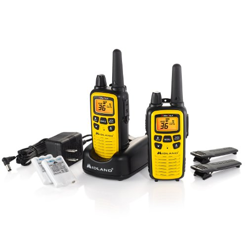 Midland - LXT630VP3, 36 Channel FRS Two-Way Radio - Up to 30 Mile Range Walkie Talkie, 121 Privacy Codes, NOAA Weather Scan + Alert (Pair Pack) ()