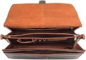 Cognac STILORD Rion Porte-Documents en Cuir Classique Serviette Vintage Cartable Sac /à Bandouli/ère Sac de Bureau avec Cadenas Couleur:Kara