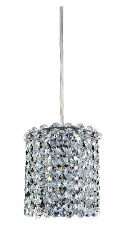 Allegri Lighting 11760-010-FR1LP Millieu 1-Light Mini-Pendant with Clear Firenze and Light Peridot Crystals, Chrome Finish