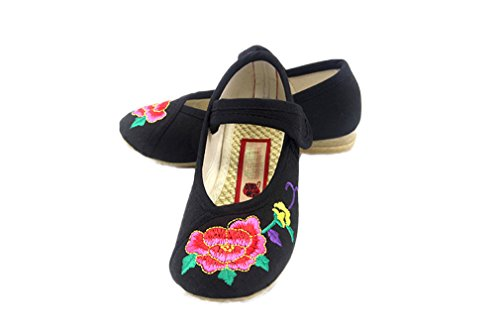Pictures of Soojun Girls Chinese Embroidery Oxfords Sole Mary 2