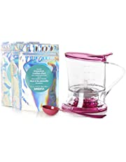 DAVIDsTEA Steeper Starter Kit with 3 Bestselling Tea Blends, Exclusive 16 Oz Steeper and Tea Spoon