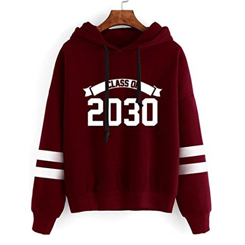 chaud femmes Sweat moonuy Tops 2030 Imprimer capuchon hiver chemisier Rouge Mode Automne Pull Sports vtements Soft capuche longues pais manches numro occasionnels twwYIC