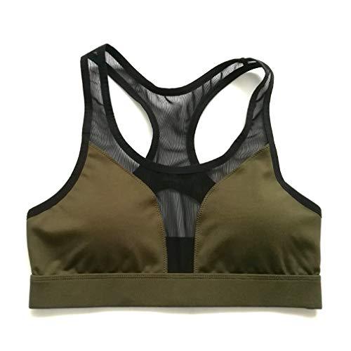 EBRICKON Women's Sports Bra. Removable Pads, Extra Breathable,Stretch Push up Padded Fitness Vest by EBRICKON