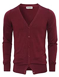 Tom's Ware Mens Stylish Fashion V-Neck Button Up Cardigan