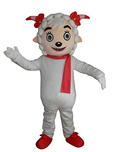 Sheep Goat Cartoon Mascot Costume Fancy Dress Cosplay Suit Outfit]()